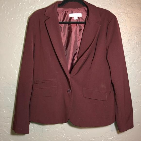 parent Temptation Guinness  New York & Company Jackets & Coats   Nyc Dark Red Blazer   Poshmark